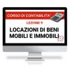 Corso Contabilità Online  locazione di beni mobili ed immobili