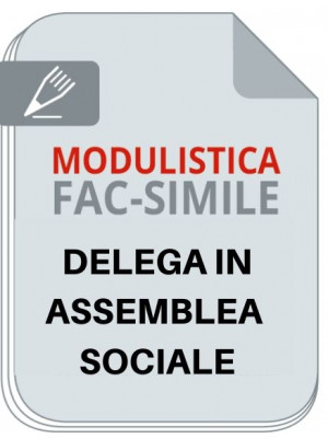 Fac-simile | Delega in assemblea sociale