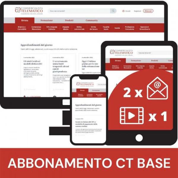 Abbonamento Base a Commercialista Telematico - rivista online di informazione fiscale