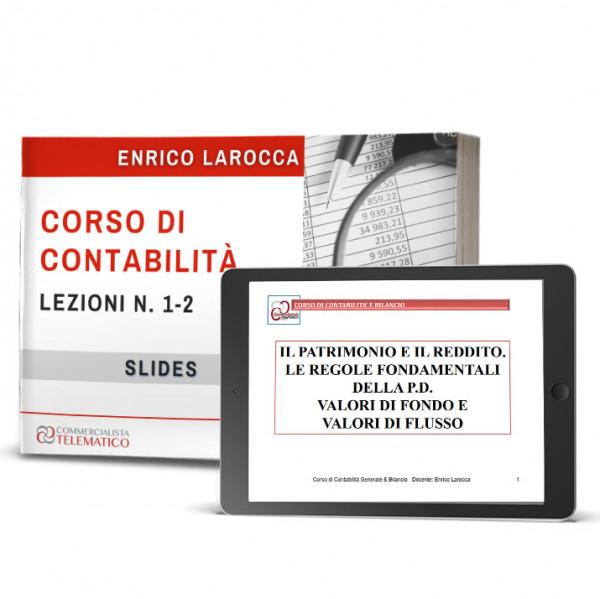 Slides lezione 1 e 2 del Corso Contabilità online