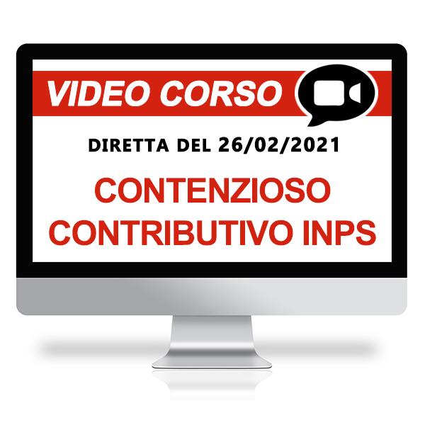 Il contenzioso contributivo con l'INPS - Corso gratuito online