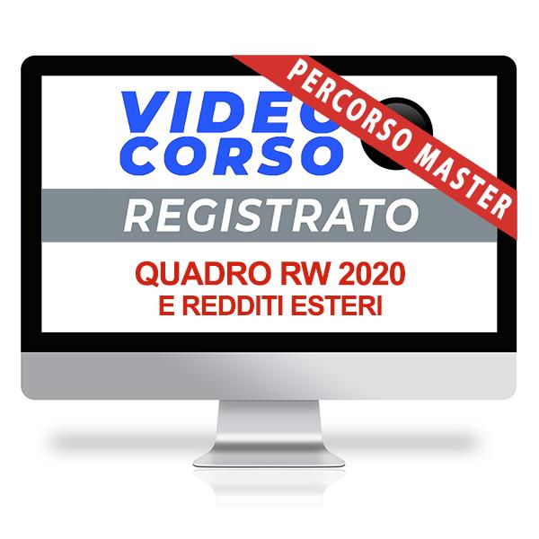 Videocorso Quadro RW 2020 e redditi esteri