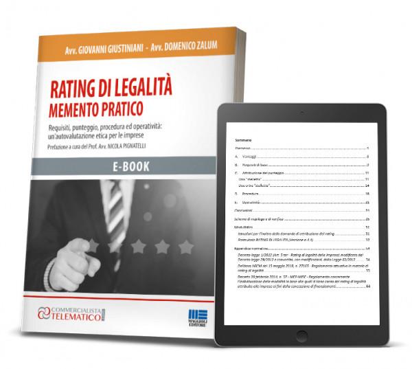 Ebook Rating di Legalità in PDF Commercialista Telmatico