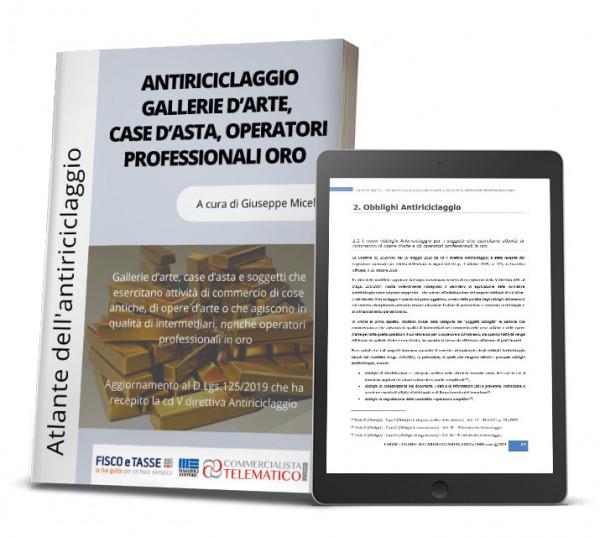 eBook | Antiriciclaggio Gallerie d'arte, Case d'asta, Operatori professionali oro