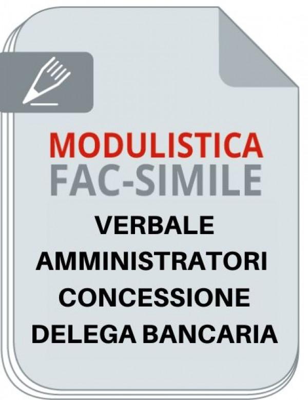 Verbale Amministratori Concessione Delega Bancaria