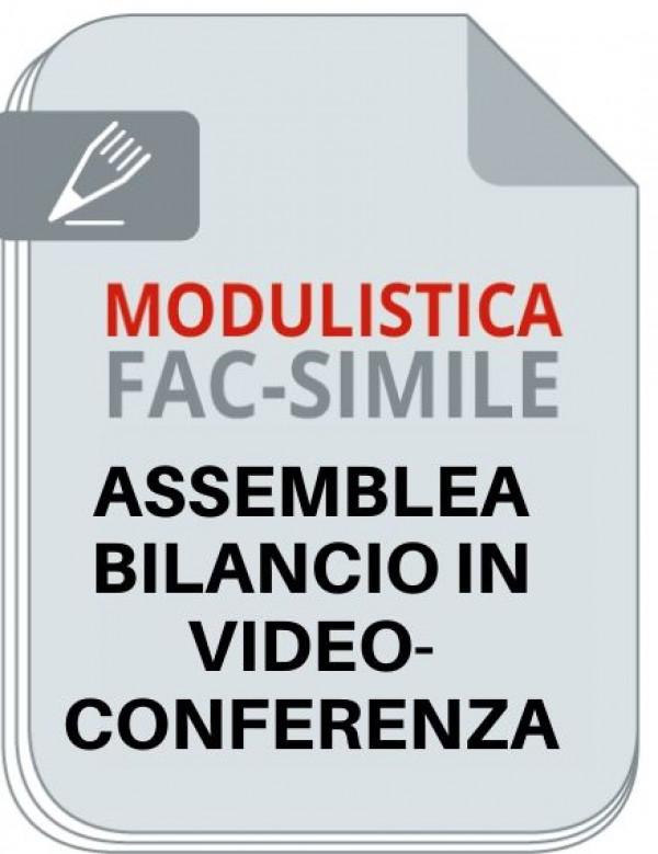 fac simili per Assemblea per approvazione bilancio in videoconferenza