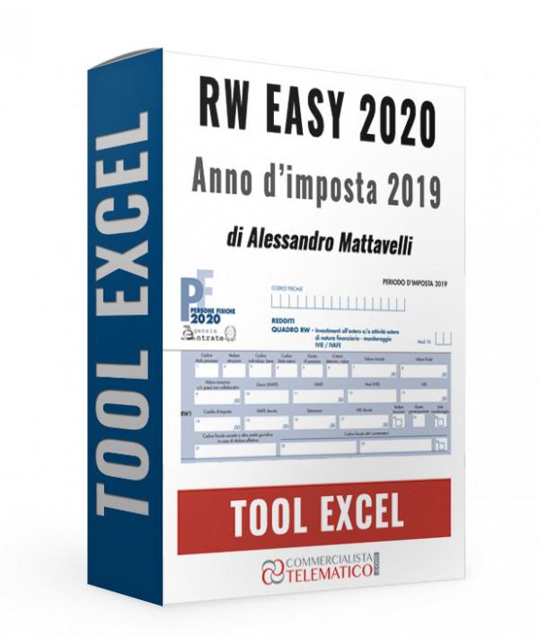 RW EASY 2020 - anno d'imposta 2019