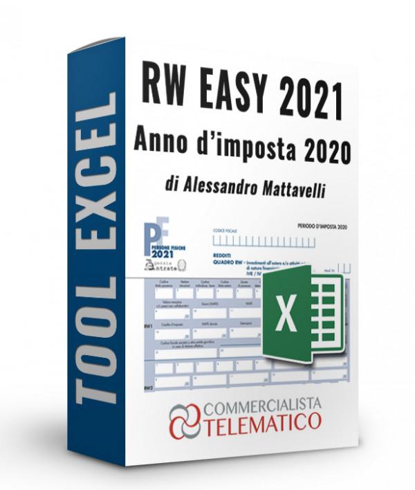 RW EASY 2021: foglio Excel per il Quadro RW