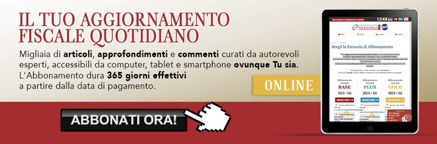 Campagna abbonamenti a Commercialista Telematico . rivista online di informazione fiscale