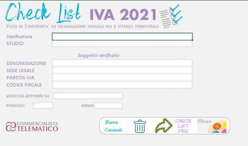 tool excel gestione visto di conformità iva 2021