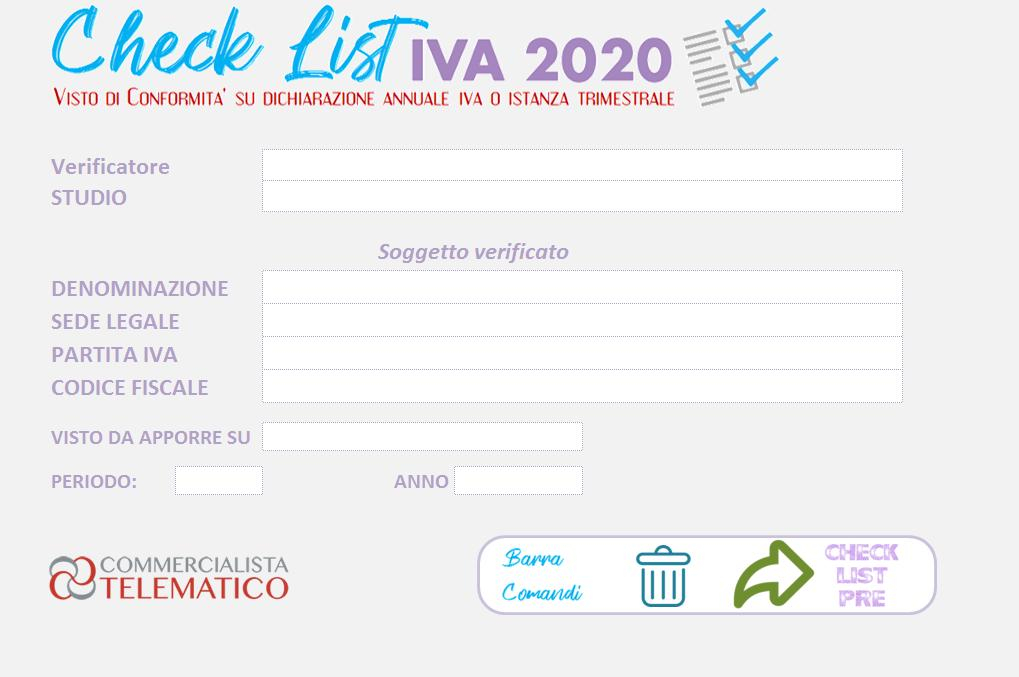 tool check-list- iva 2020