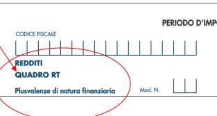 redditi quadro RT