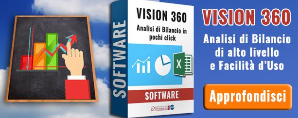 Software vision 360 per analisi di bilancio di alto livello e facilità di uso | Commercialista Telematico
