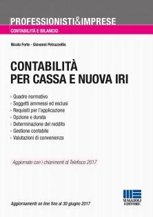 Libro Maggioli Editore contabilità cassa nuova iri | Commercialista Telematico
