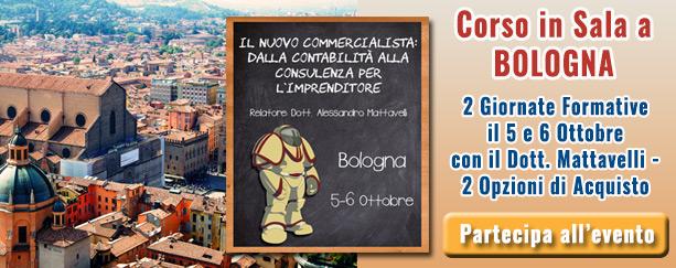 Corso a Bolognaevento Alessandro Mattavelli dalla contabilità alla consulenza impreditoriale | Commercialista Telematico