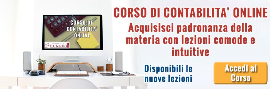 Corso Contabilità Online | Commercialista Telematico