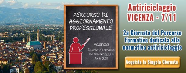 Vicenza Giornata Antiriciclaggio Novembre 2017 | Commercialista Telematico