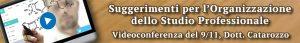 Banner Videoconferenza Organizzazione Studio