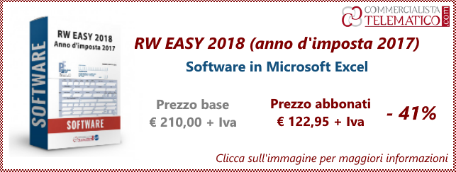 Software easy per compilare il quadro rw nel 2018