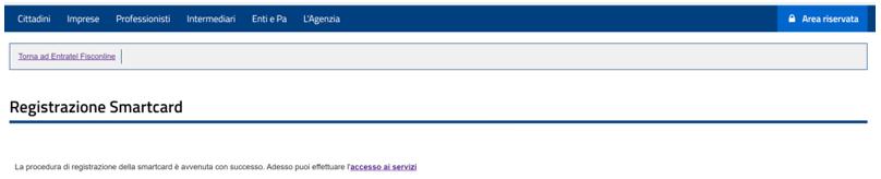 Accesso (rapido) ai servizi telematici dell'Agenzia delle Entrate