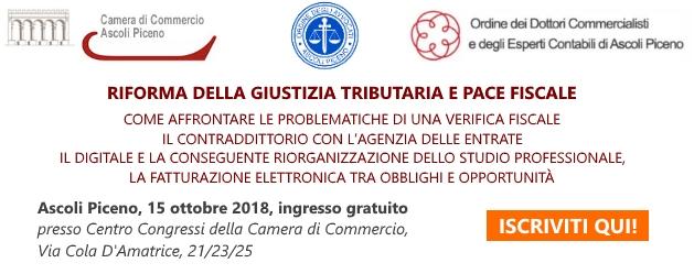 evento ad Ascoli Piceno sulla riforma della giustizia tributaria e pace fiscale