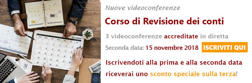 seconda videoconferenza sulla revisione dei conti