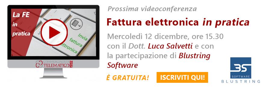 videoconferenza sulla fatturazione elettronica