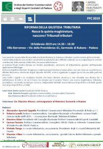 Evento Padova Giustizia Tributaria