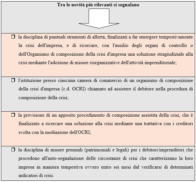 Gli strumenti di allerta nella riforma del codice della crisi e dell'insolvenza d'impresa