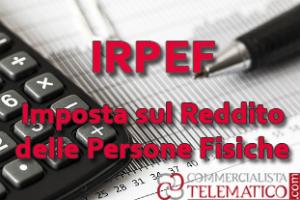 irpef - imposta sul reddito delle persone fisiche - aliquote