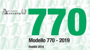 Modello 770/2019