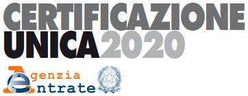 novita certificazione unica 2020