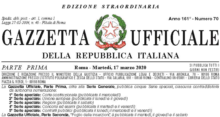 enti non commerciali misure decreto cura italia