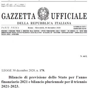 legge di bilancio 2021 testo integrale