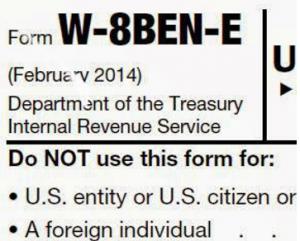 Form W-8BEN-E