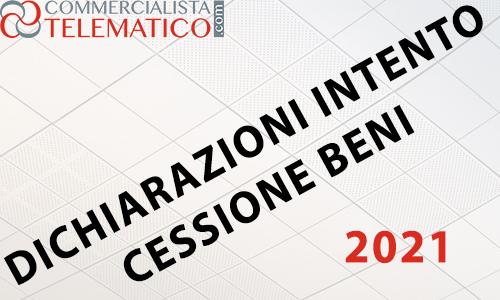 dichiarazione intento 2020 2021