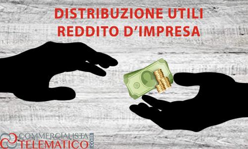 distribuzione utili bilancio reddito impresa