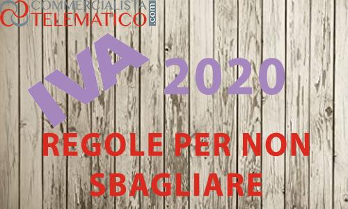 compensazione credito IVA 2020