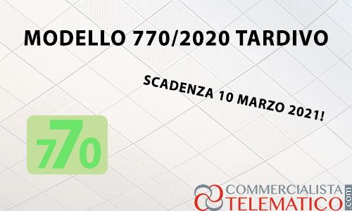 modello 770 2020 tardivo