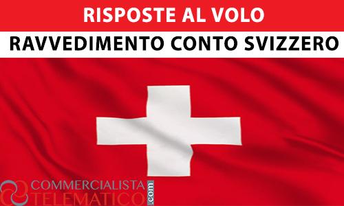 ravvedimento conto svizzero lettera compliance