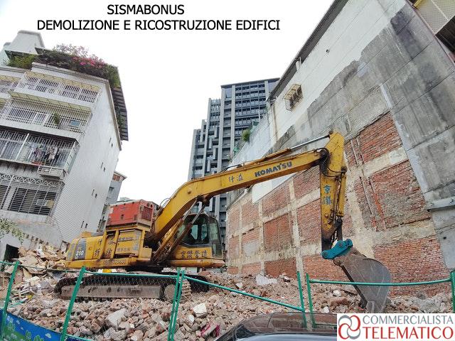 sismabonus demolizione ricostruzione edificio