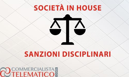 sanzioni disciplinari conciliazione società in house