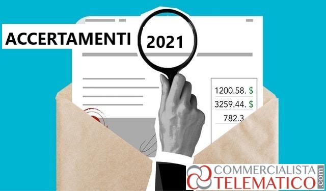 accertamenti 2021 opzioni contribuente