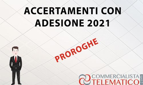 accertamenti con adesione 2021