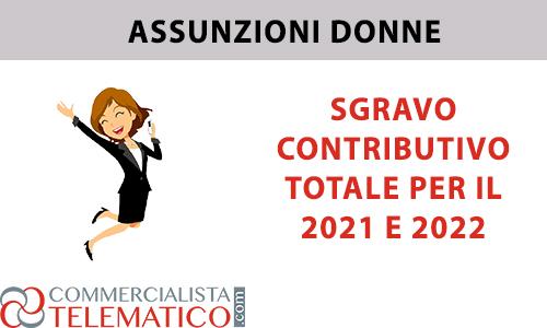 assunzione donne sgravio contributivo totale