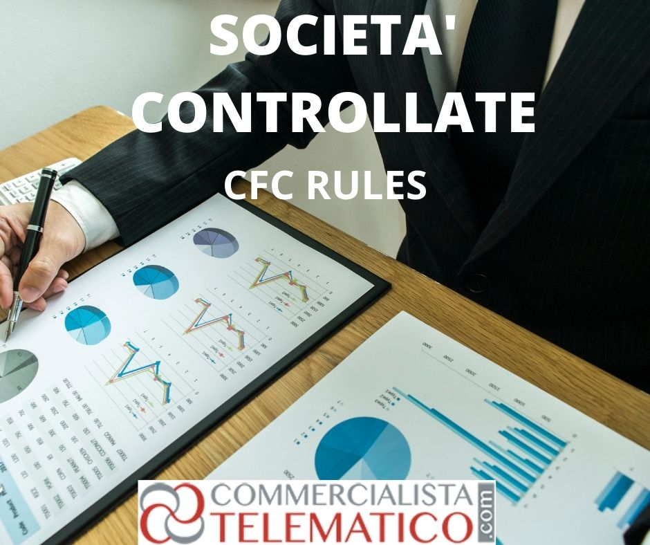 cfc rules redditi società controllate