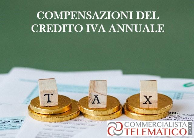 compensazioni credito iva annuale