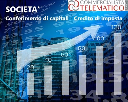 credito imposta aumenti di capitale