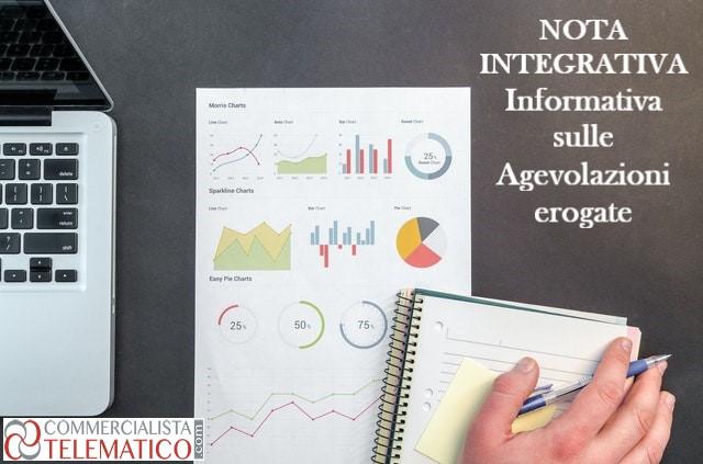 nota integrativa informativa agevolazioni erogate