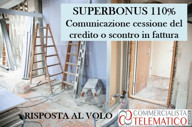 superbonus comunicazione cessione credito sconto fattura